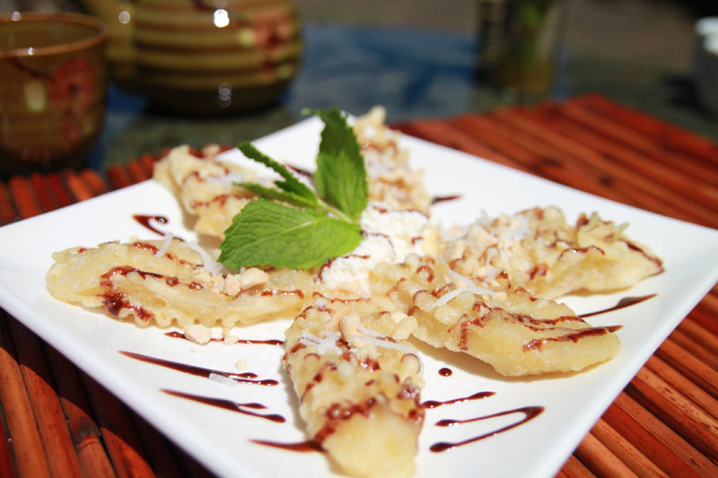 Tempura Bananas photo by Crystal Ricotta