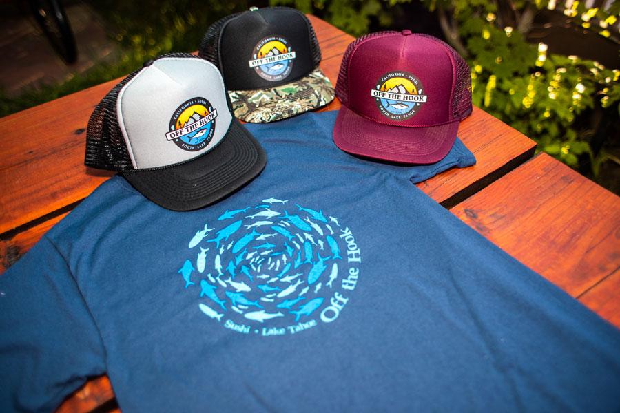 Off the Hook Trucker Cap and T-shirt